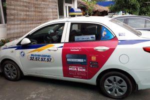 quảng cao taxi cho lazada