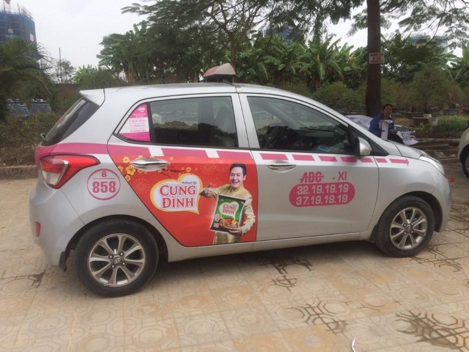 báo giá quảng cáo taxi abc