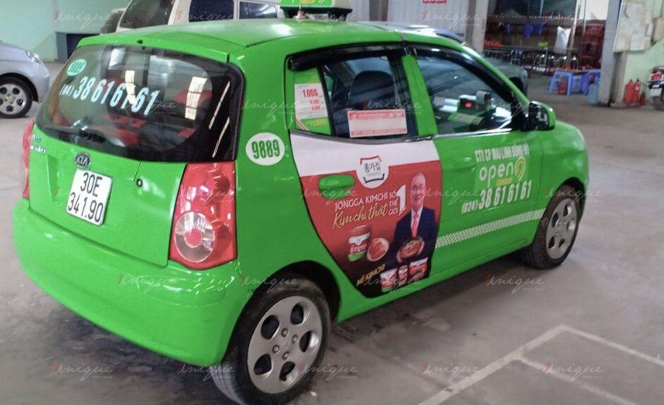 hình thức quảng cáo taxi