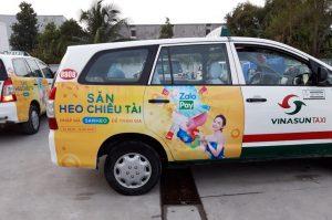 quảng cáo taxi cho zalo pay