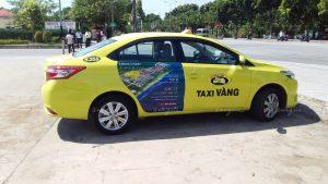 cenland quảng cáo trên taxi