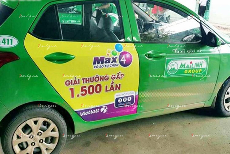 Vietlott phủ sóng thương hiệu với chiến dịch quảng cáo taxi quy mô lớn